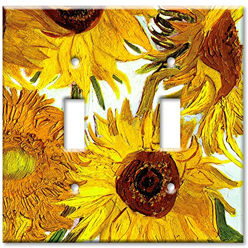 Art Plates - Van Gogh: Sunflowers Switch Plate - Double (Double Decorative Switchplate)