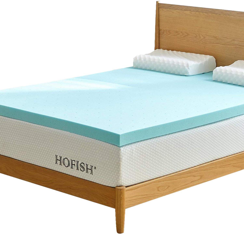 HOFISH 3 Inches Gel Infused Memory Foam Mattress Topper-Twin
