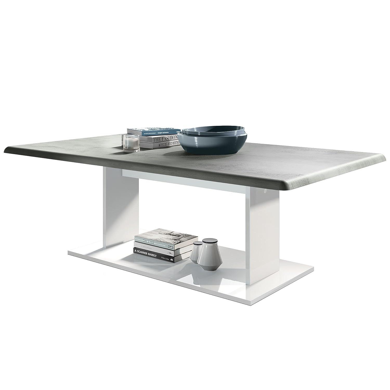 Mesa de Centro Mono en Blanco con Tablero de la Mesa en hormigón ...