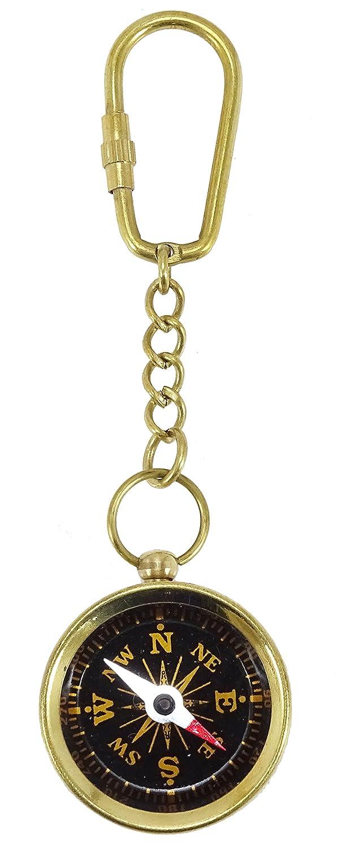 Clave Brass Ring clave Llavero con brújula dorada Mapa del ...