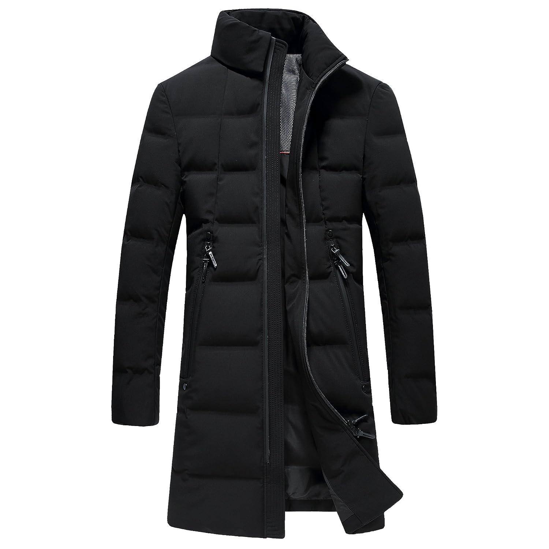 Spikerking Men's down jacket Hooded long Coat at Amazon Men's ...