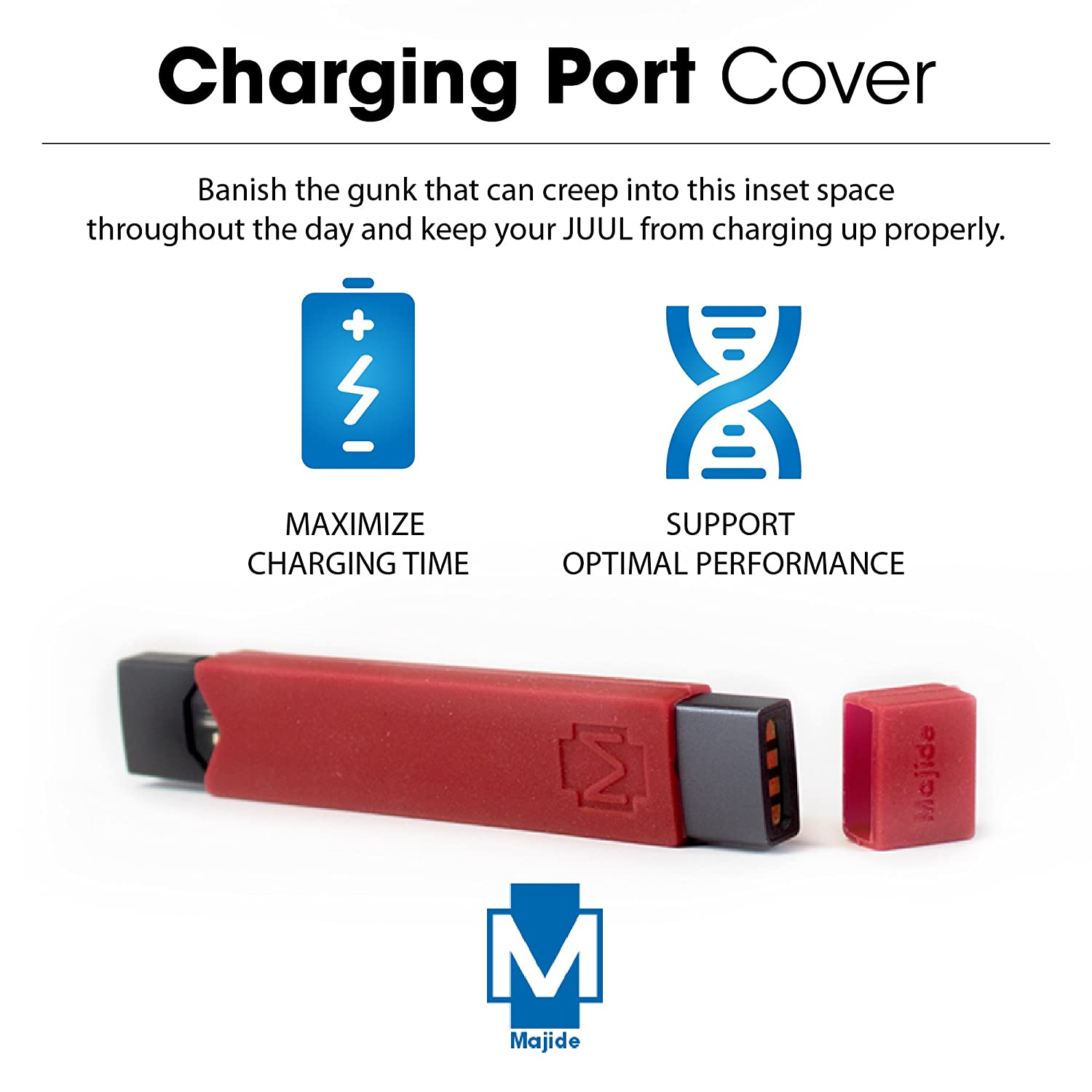 Majide Ultra Thin JUUL Vapor Case with 3-in-1 Protection Technology and  Hybrid Drop Protection - Never Lose Your JUUL Again! - Red