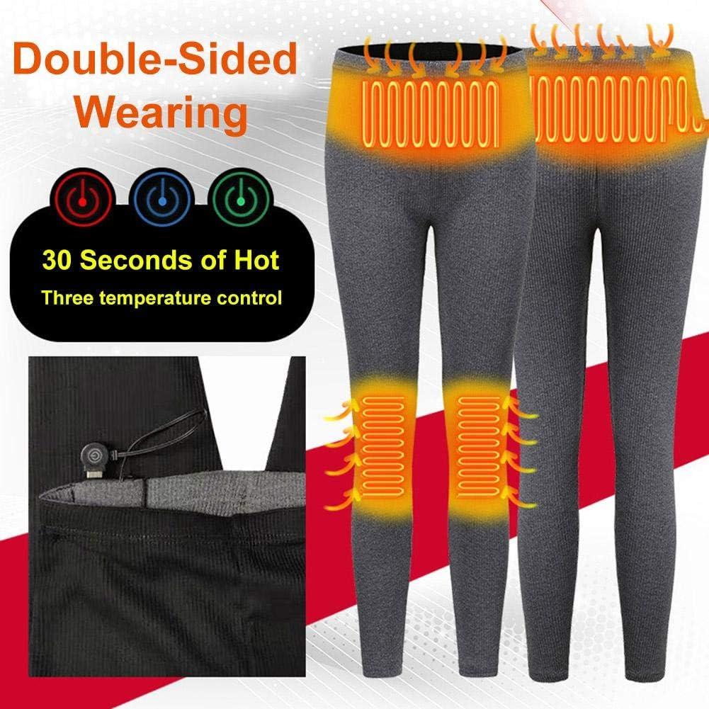 cuckoo-X Pantalones calefactables Doble//una Cara Hombres y Mujeres Calentamiento Inteligente Pantalones Ajustados t/érmicos de Capa Base Pantalones calefactores USB Pantalones aislantes Recargables