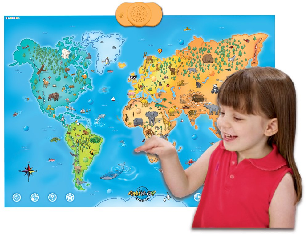 Amazon zanzoon animap interactive talking animals of the amazon zanzoon animap interactive talking animals of the world map toys games gumiabroncs Image collections