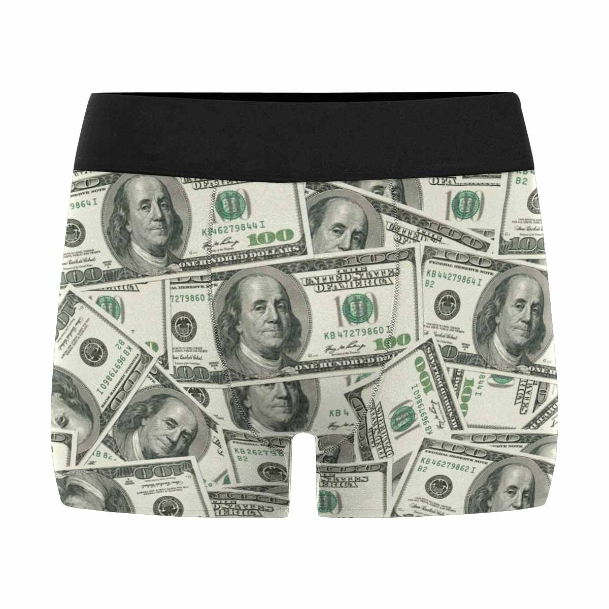 XS-3XL INTERESTPRINT Custom Mens All-Over Print Boxer Briefs 100 Dollar Bills