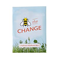 Pre-Filled Seed Packet ''Bee The Change'' Party Favors for Guests (Pack of 20) - Wildflower Seed Mix, Plant Year-Round, Great Gift for Hostesses, Showers, Weddings, Thank You