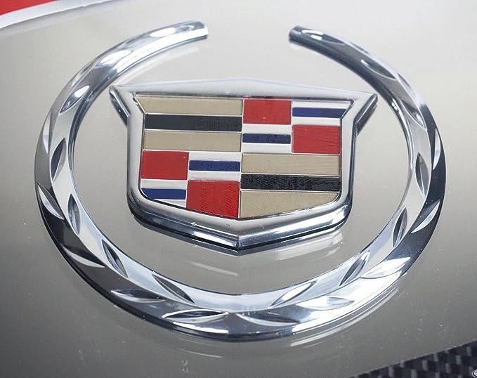 Cadillac 3d emblema placa de licencia de acero inoxidable logo ...
