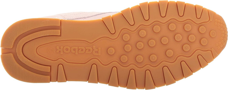 Reebok Men's Classic Lthr Pastels Fashion Sneaker Porcelain Pink/Classic White/Coal-gum