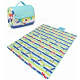 """Yodo XXX-Large Outdoor Waterproof Picnic Blanket Tote 79"""" x 79"""" / 79"""" x 59"""" Light Weight with Soft Fleece and Padding"""