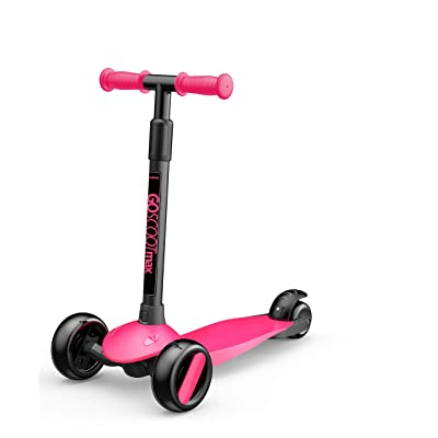 New Bounce 3-Wheel Kick Scooter - Kids Scooter with Adjustable Handelbar - The GoScoot MAX is Perfect for Children and Toddlers, Girls and Boys Ages 2-6 (Pink) : Sports & Outdoors