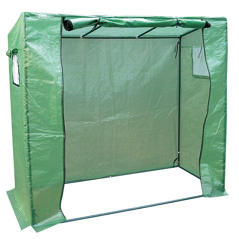 GREEN 200x77x169cm GREEN 200x77x169cm LIANGLIANG-Greenhouses Gardening Extra Large Plant Shed Heat Preservation Rainproof Tear Resistance Plastic Steel Pipe Bracket Stable (color   GREEN, Size   200x77x169cm)