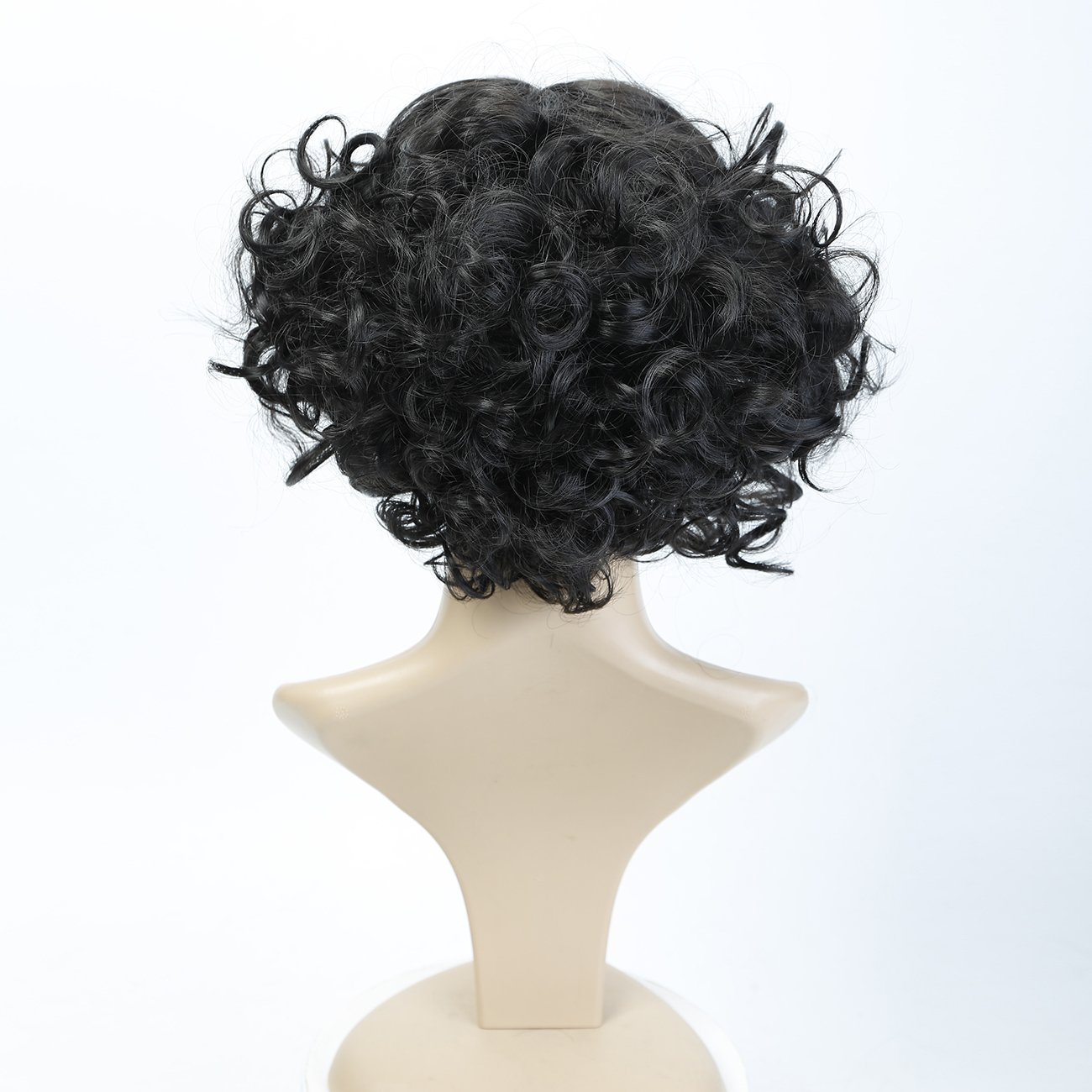 Amazon.com : MEIFAN WIG Black Short Curly Wigs Pelucas De Cabello Natural Synthetic Hair Halloween Party Wigs For Black Women : Beauty