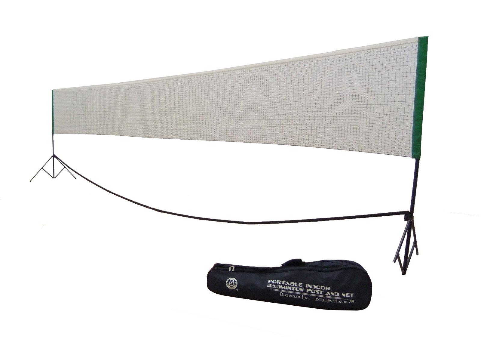 Genji Sports Portable Indoor Badminton, Outdoor Post and Net Set by Genji Sports