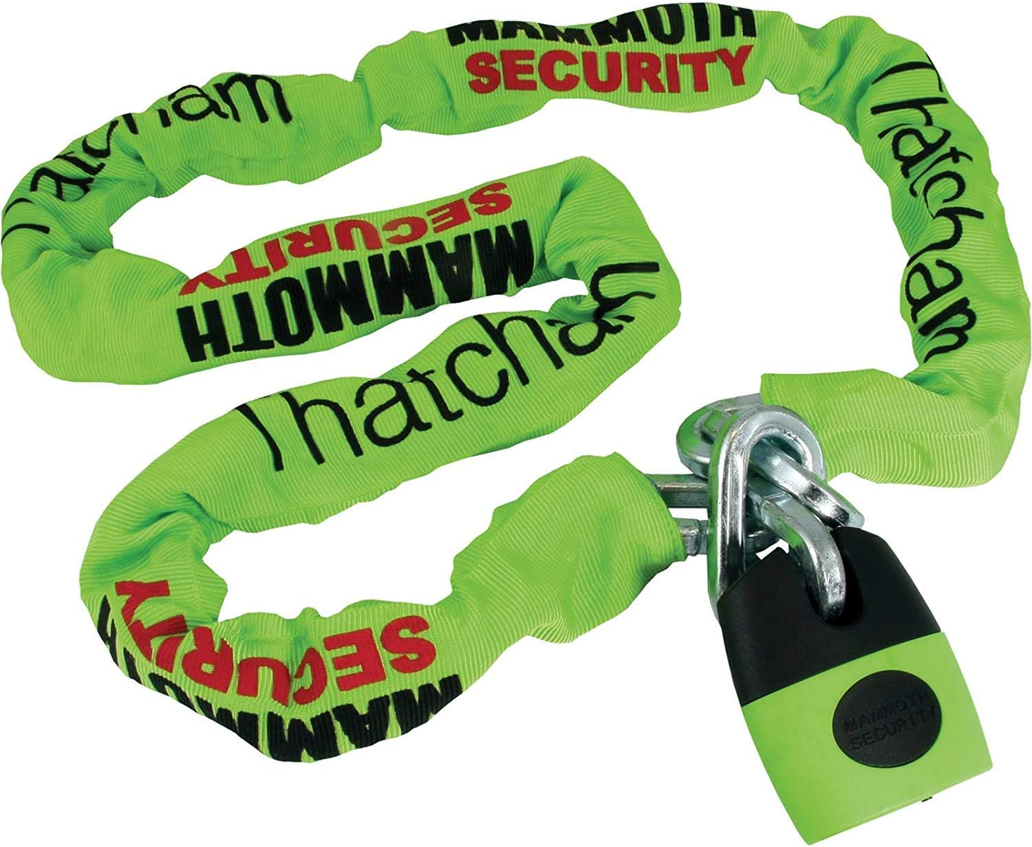 MAMMOTH LOCMAM MOTORCYCLE MOTORBIKE 1.8M LONG AND 10MM THICK CHAIN LOCK BEST SECURITY