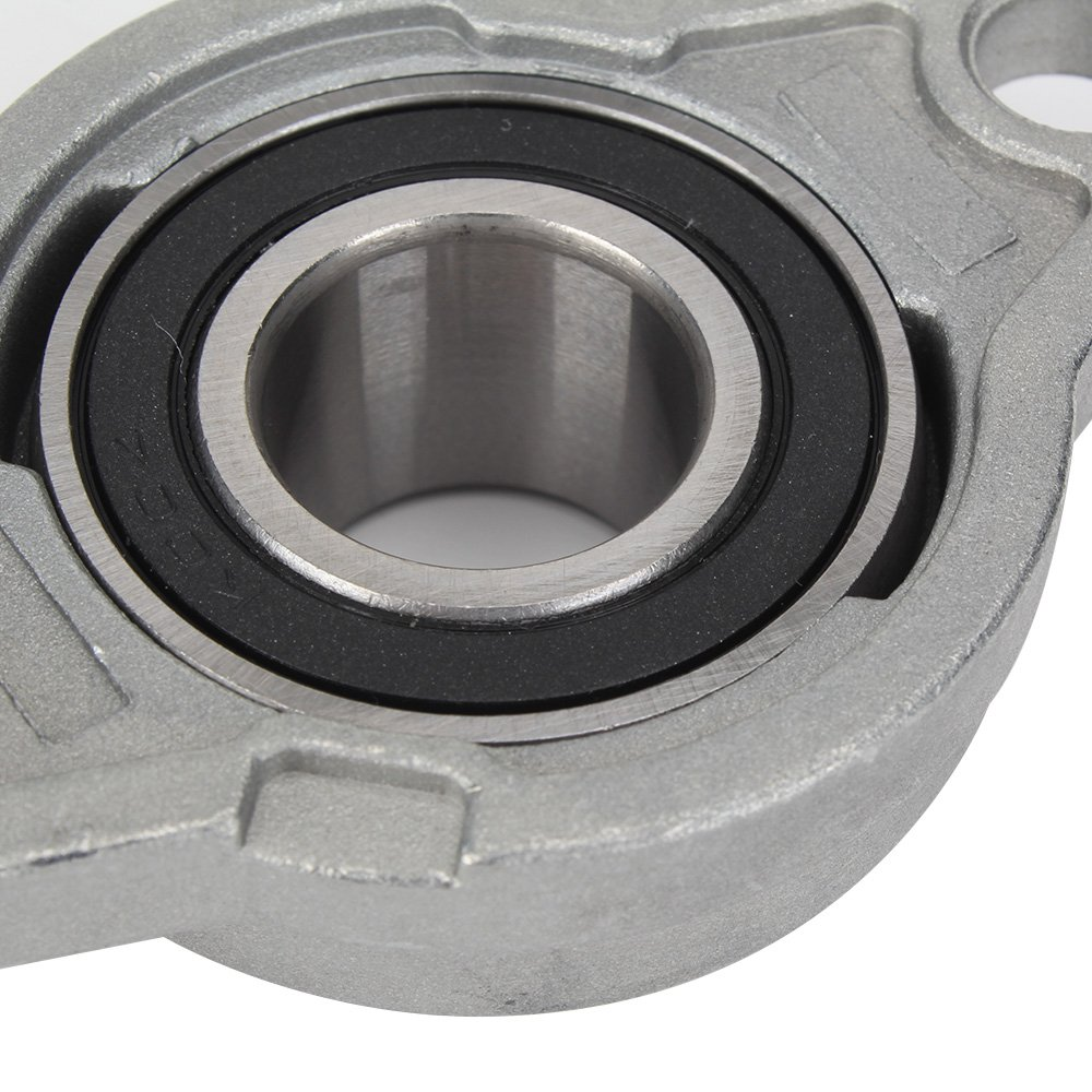 Mxfans Zinc Alloy Metal Pillow Block Bearing 20mm Inner Diameter for Machinery