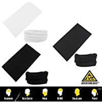 Multifunctional Headwear 3PC Various Designs-Absorbs Sweat, UV Protection, 12-in-1 Headband for Outdoor Sports -Wear as a Neck Gaiter, Ski Mask, Bandana, Scarf and More-for Men and Women