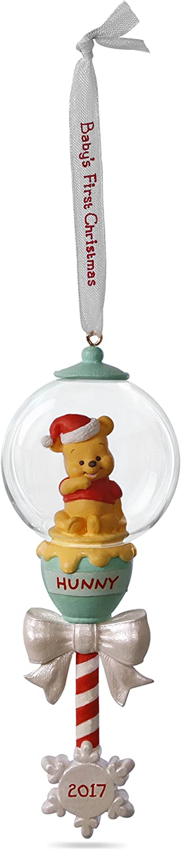 Hallmark Keepsake 2017 Disney Winnie the Pooh Baby's First Christmas Rattle Dated Christmas Ornament