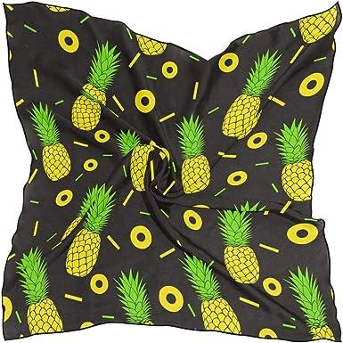 Headscarf Pineapple Background Elegant Neck Scarves for Women Girls