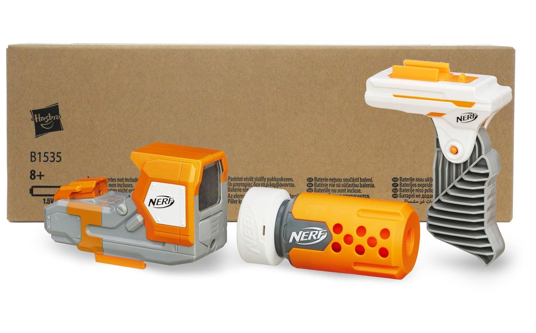 Nerf modulus stealth kit in recycling verpackung schalldämpfer