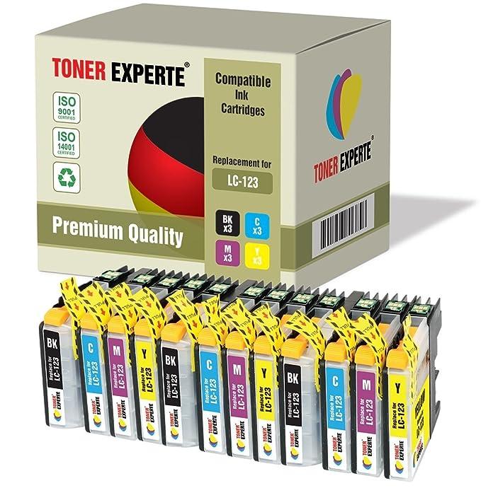 Pack de 12 XL TONER EXPERTE® Compatibles LC123 Cartuchos de Tinta ...