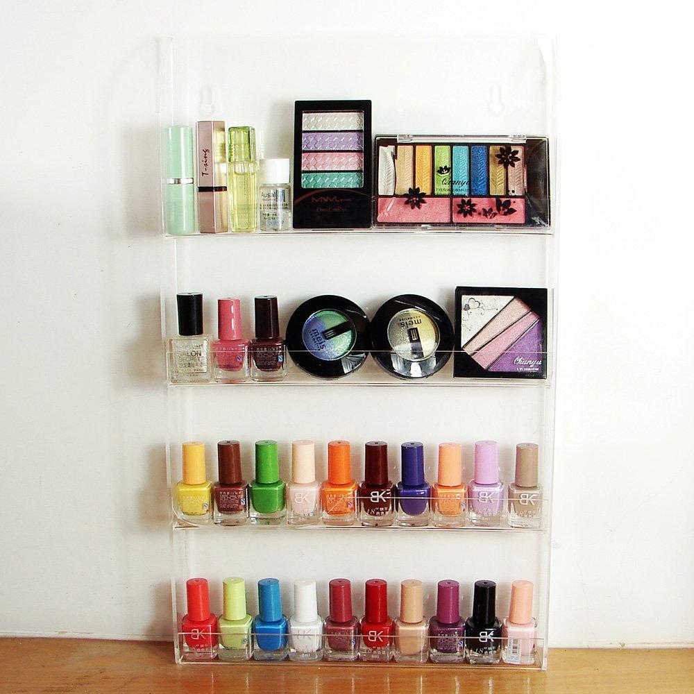 Ikee Design Acrylic Nail Polish Rack Display Makeup Storage Organizer