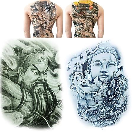 SOFIALXC Respaldo Completo Pecho Tatuaje Pegatinas de Tatuaje ...