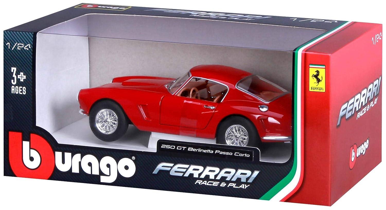 Amazon.com: Ferrari 250 GT Berlinetta Passo Corto Red 1/24 Diecast Model Car by Bburago 26025: Toys & Games