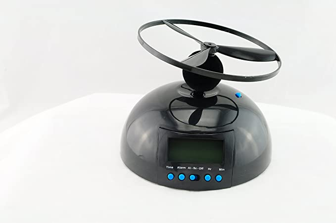 Denshine Flying helicóptero UFO - Reloj despertador con ...