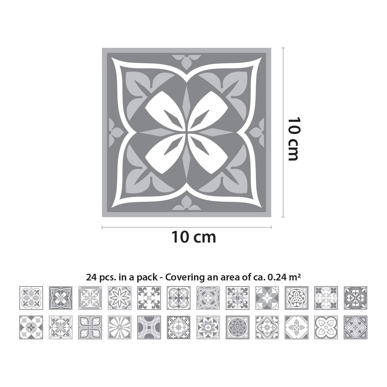 10/cmx10cmx0.02/cm WALPLUS Wt1031-purbeck Pierre carrelage Murale Stickers-10/cm x 10/PC Cm-24 m/élang/é
