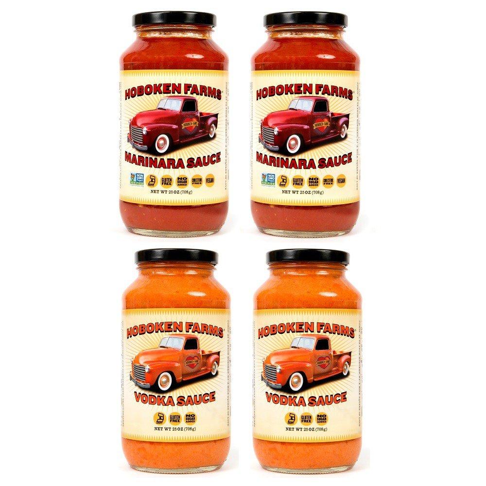 Hoboken Farms Big Red Gourmet Marinara & Vodka Sauces (4 Pack)