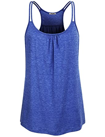 e975747c72d2d Amazon.com  Hibelle Womens Scoop Neck Cute Racerback Yoga Workout Tank Top   Clothing