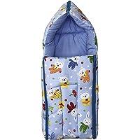 Momshome Cotton Sleeping Cum Carrying Bag (Blue, 0-8 Months)