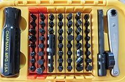 chapman mfg 5575 master tool kit with screwdriver kit allen hex metric allen hex. Black Bedroom Furniture Sets. Home Design Ideas