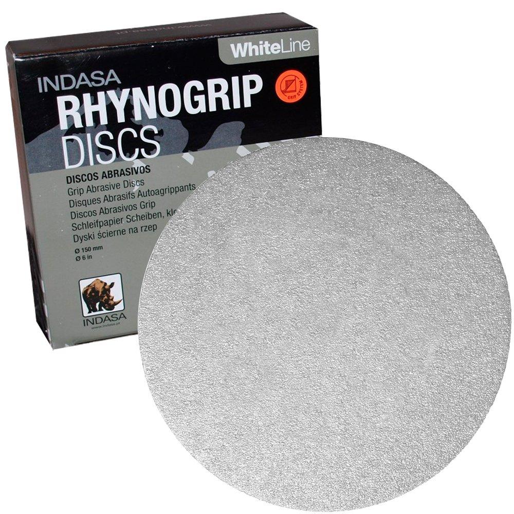Caja 50 ud 100 Disco Lija 150 mm Rhynogrip Red Line Indasa