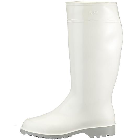 Nora Holzmaxie 72013 - Botas de agua para mujer, color blanco, talla 42