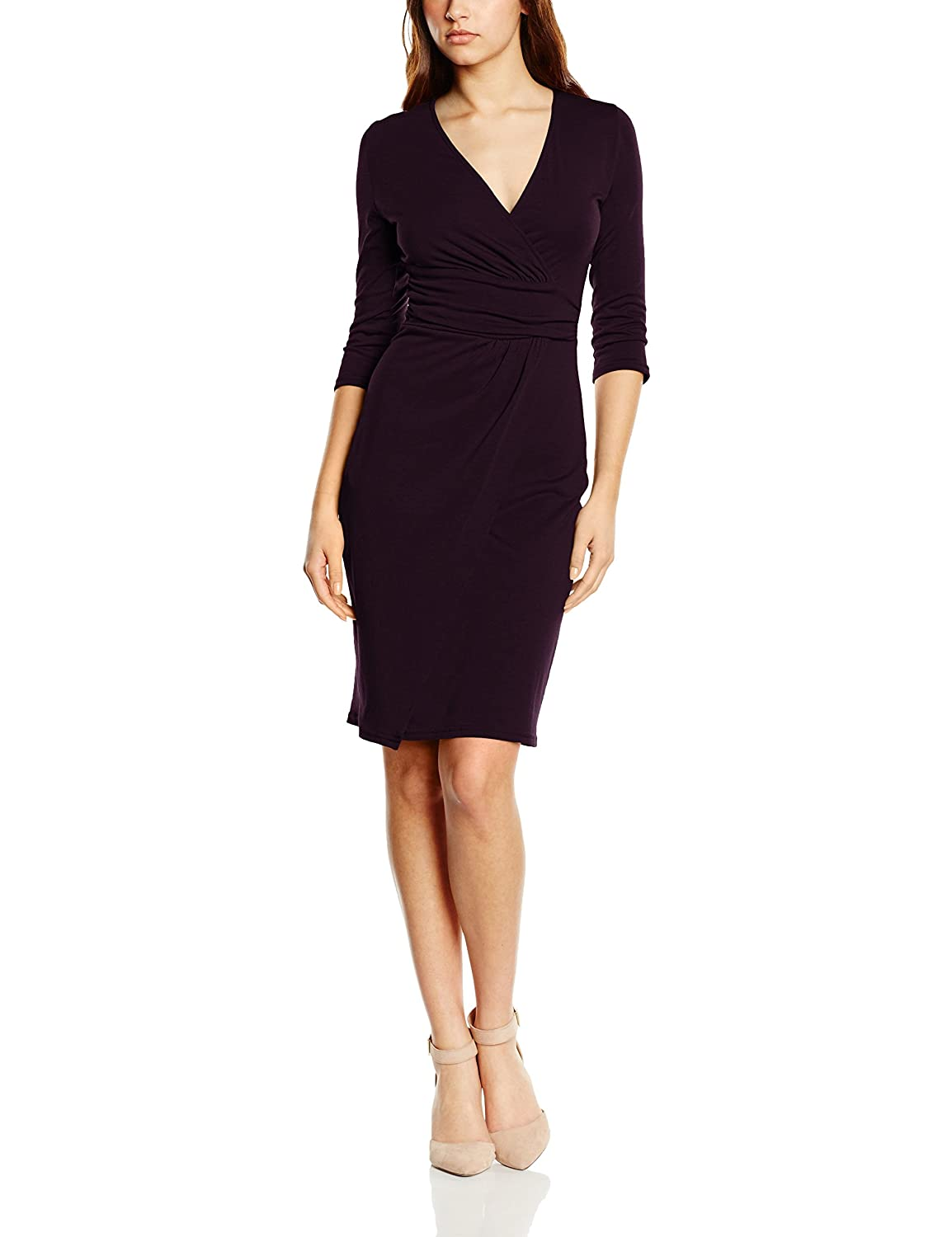 HotSquash Women's Ascot Mock-Wrap Dress