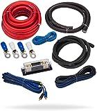 InstallGear 1/0 Gauge Complete Amp Kit Amplifier Installation Wiring Wire