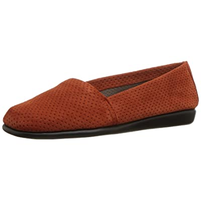 Aerosoles Women's Mr Softee Slip-On Loafer Dark Orange Suede 9.5 M US | Loafers & Slip-Ons