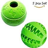 Feixun Pets Hundespielzeug Intelligenz Snack Ball aus Naturkautschuk Gummi Hunde Training Bälle Ø 7.6-8cm