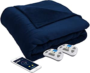 Serta Perfect Sleeper Luxury Plush Heated Blanket, Navy Color, Queen Size