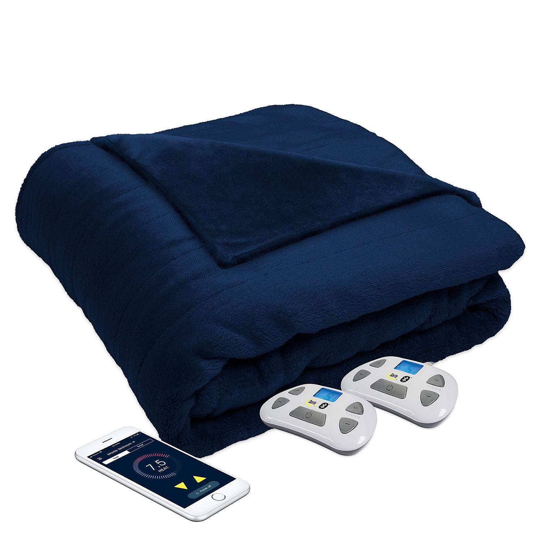 Serta Perfect Sleeper Luxury Plush Heated Blanket, Navy Color, King Size