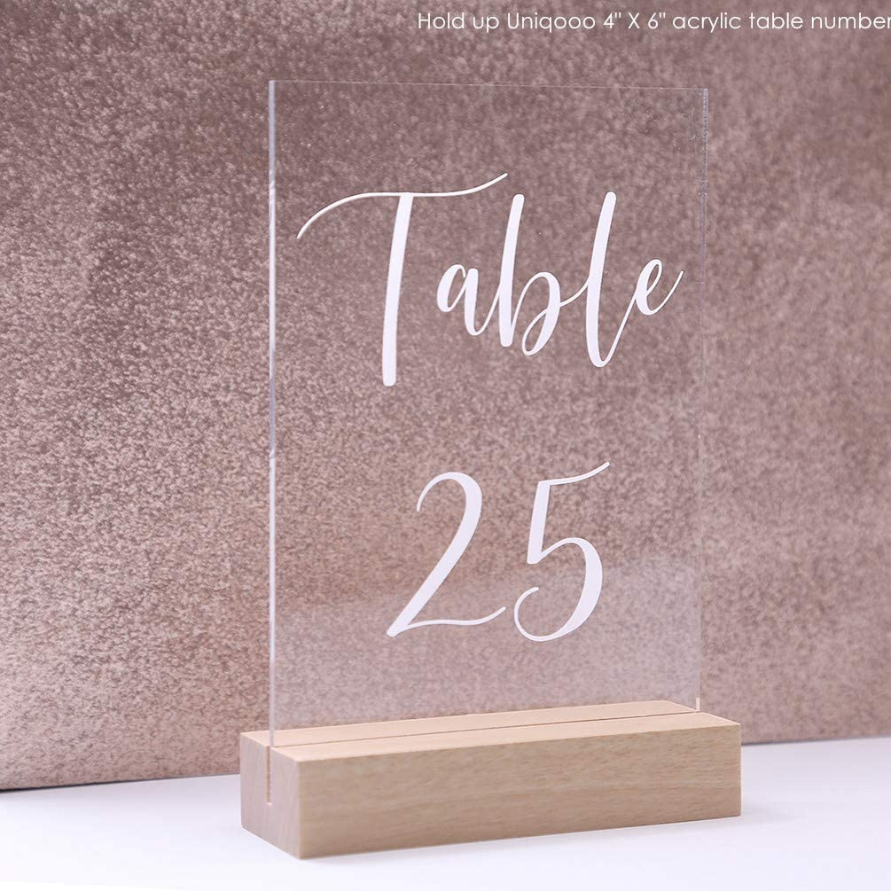 Wedding Display Stand Wood Table Number Holders for 1/8 Thick ...