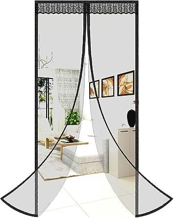 Puerta mosquitera magnética, fácil de instalar, para puerta corredera, puerta corredera, puerta de malla, mosquitera para puertas: Amazon.es: Bricolaje y herramientas