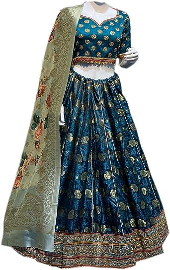 Amazon Com Stylishfashion Lehenga Choli Party Wear Wedding Designertraditional Bridal Wedding Lehenga Choli Indian Wedding Wear Lehenga Clothing