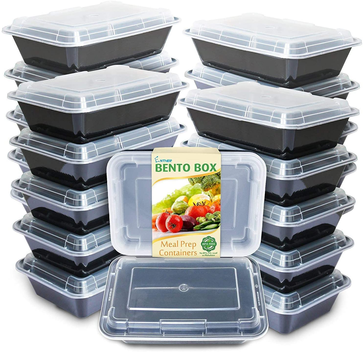 Enther Meal Prep Containers Microwave Safe / Positive review given by 12K users