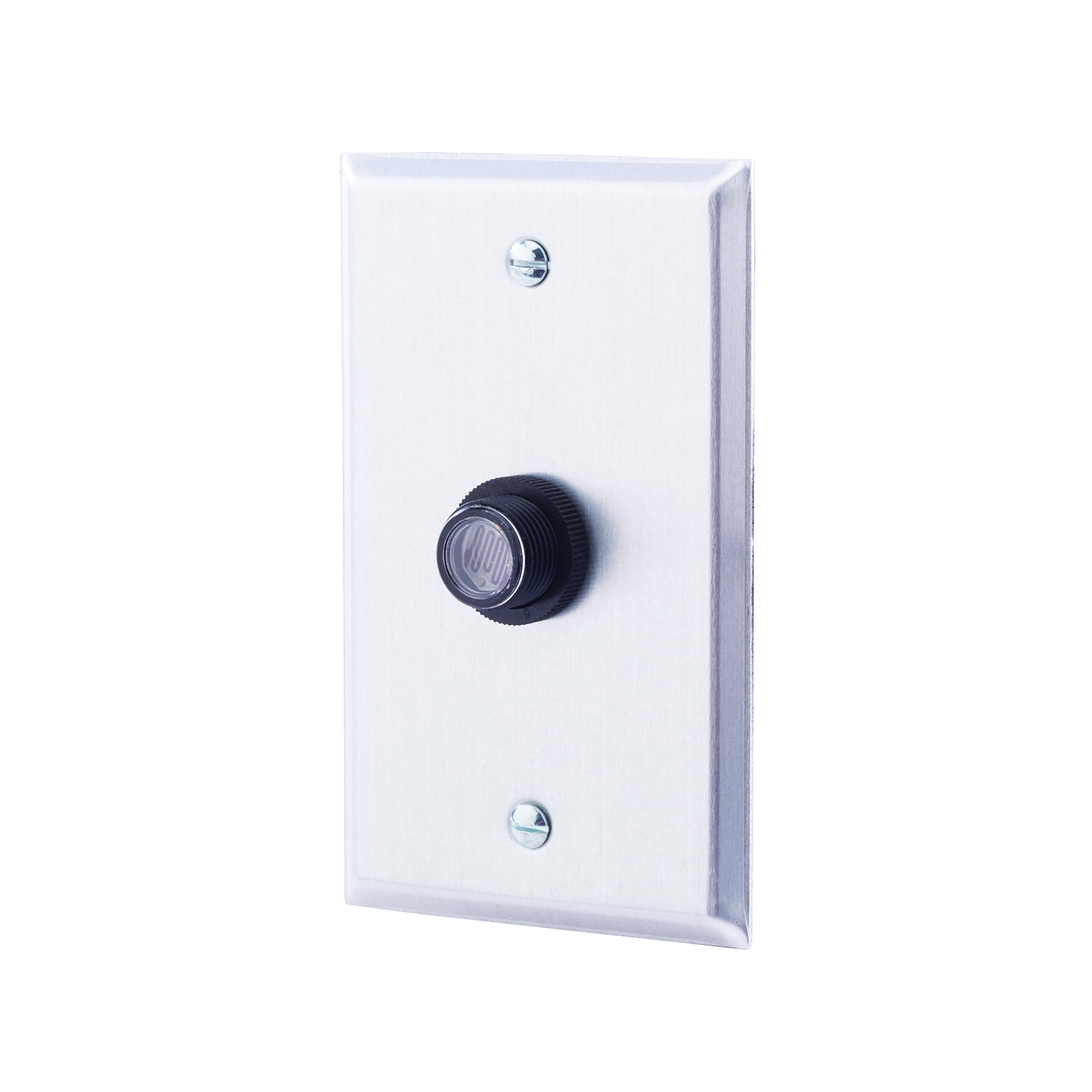 NSi Industries TORK RKP311 Outdoor 120-Volt Button Photocontrol With Wall Plate - Controls Lighting Dusk to Dawn - Compatible with Incandescent/Compact Fluorescent/Halogen/LED