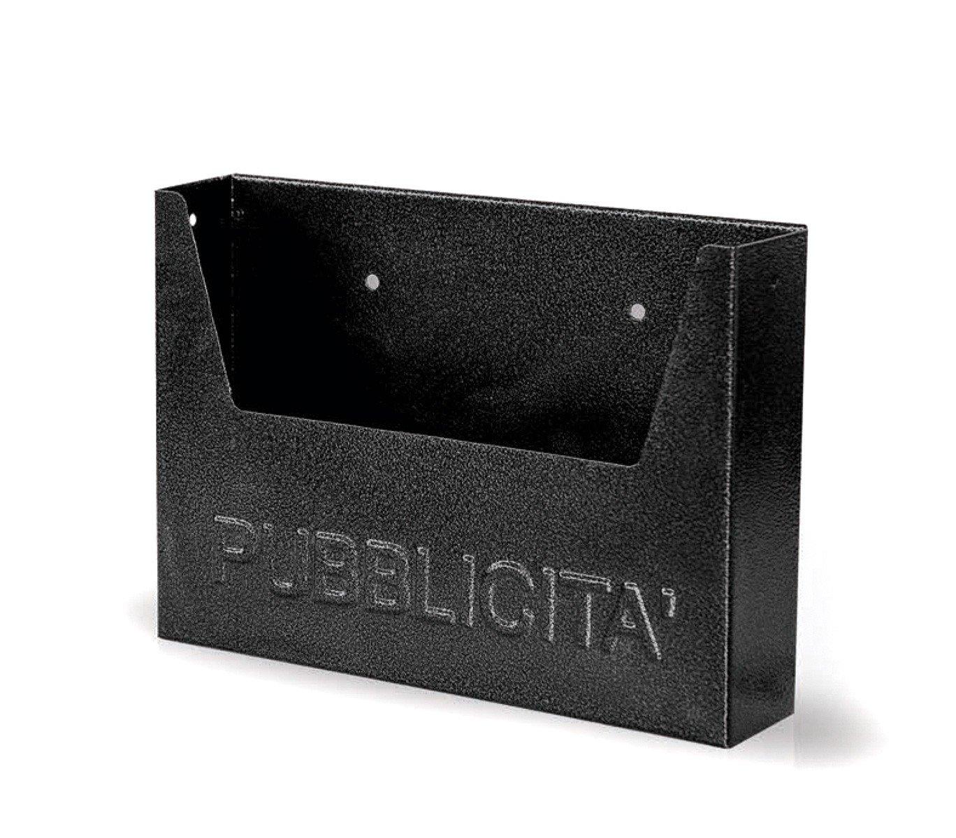Buz/ón para publicidad ARTIGIAN FERRO Art 714 de hierro pintado negro 34x7x25 cm