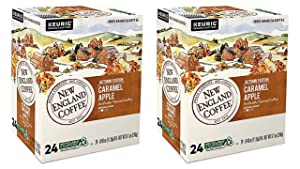 New England Coffee K-Cups Caramel Apple 24 Count (Pack of 2)
