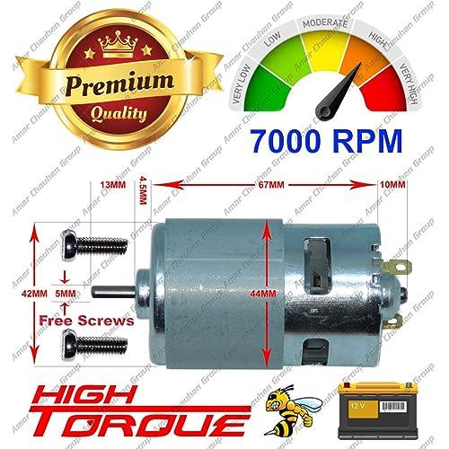 Vaani Rs775 High Rpm Torque 12v Brushed Dc Big Strong Motor Diy Project Rs