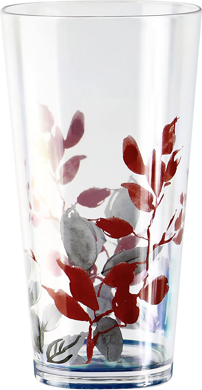 Reston Lloyd Kyoto Leaves19Oz Acrylic Glass, S/6, Corelle